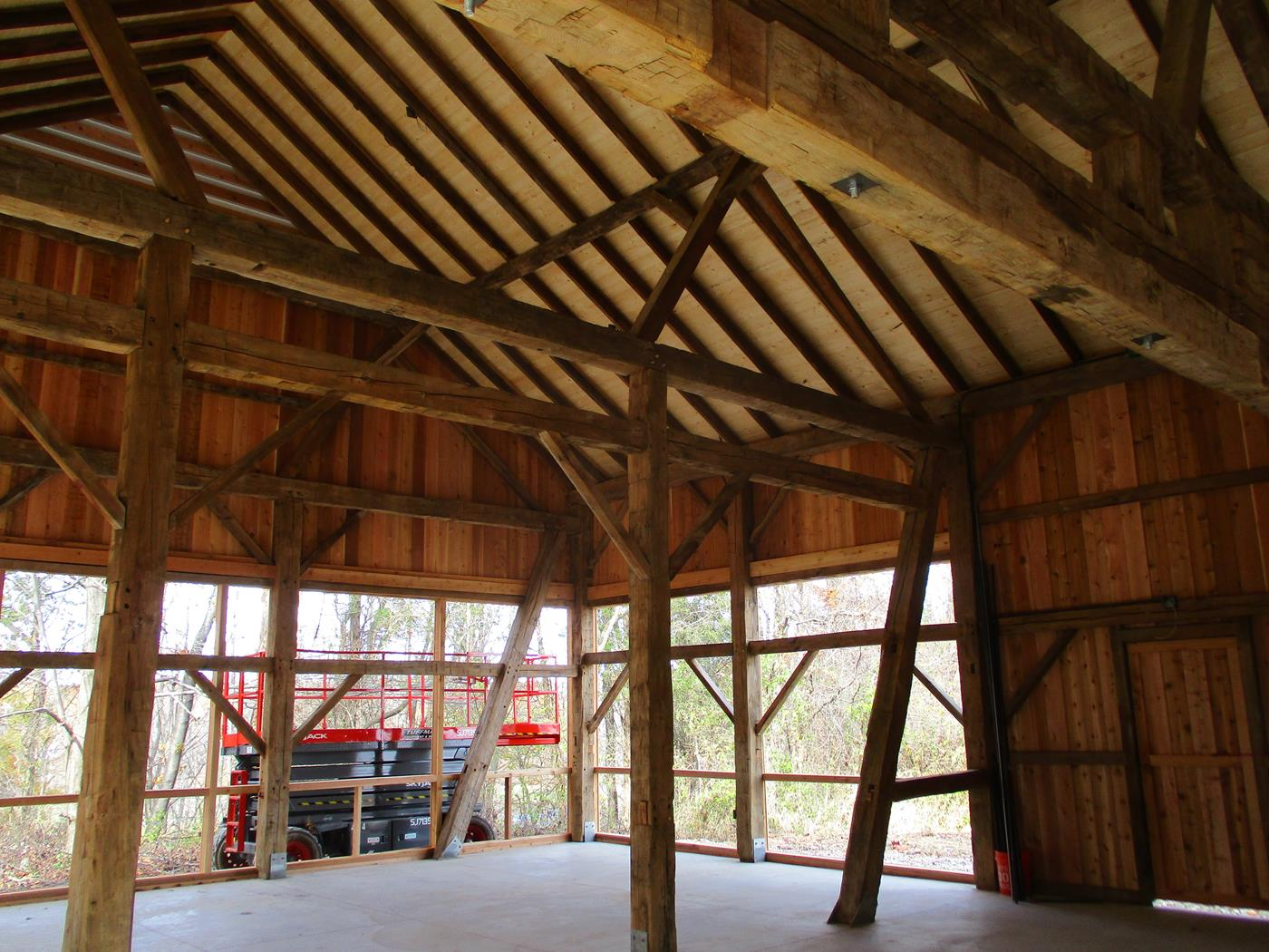 Bellweather Farms Barn Raising Ohio Valley Barn Salvage 11