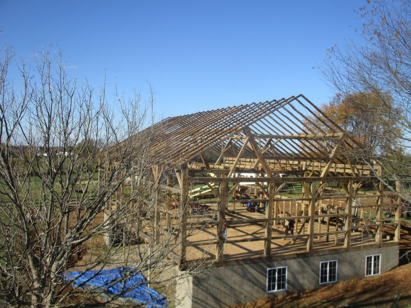 Bluffton Allen Historic Barn Frame 1