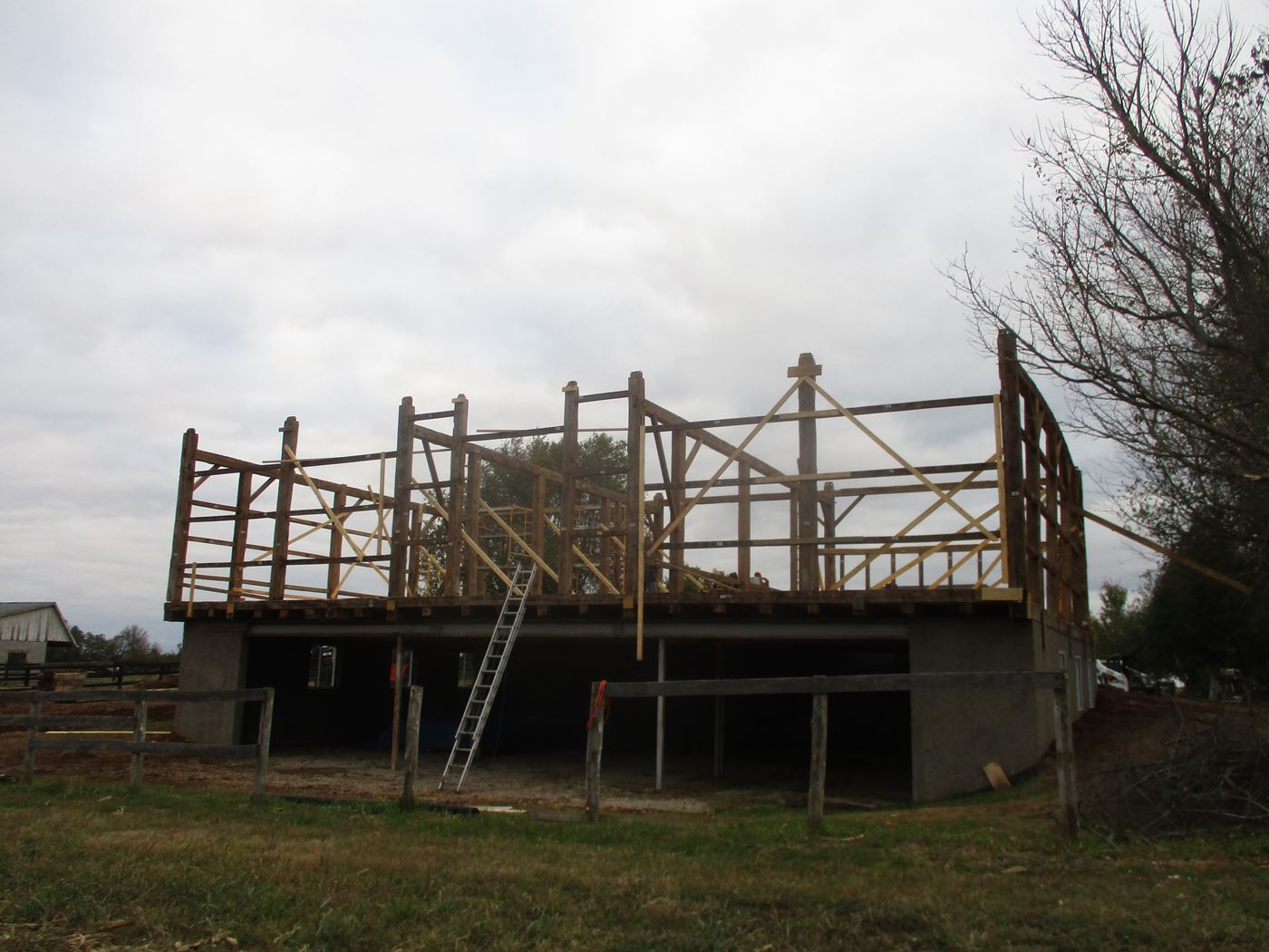 Bluffton Allen Historic Barn Frame 21