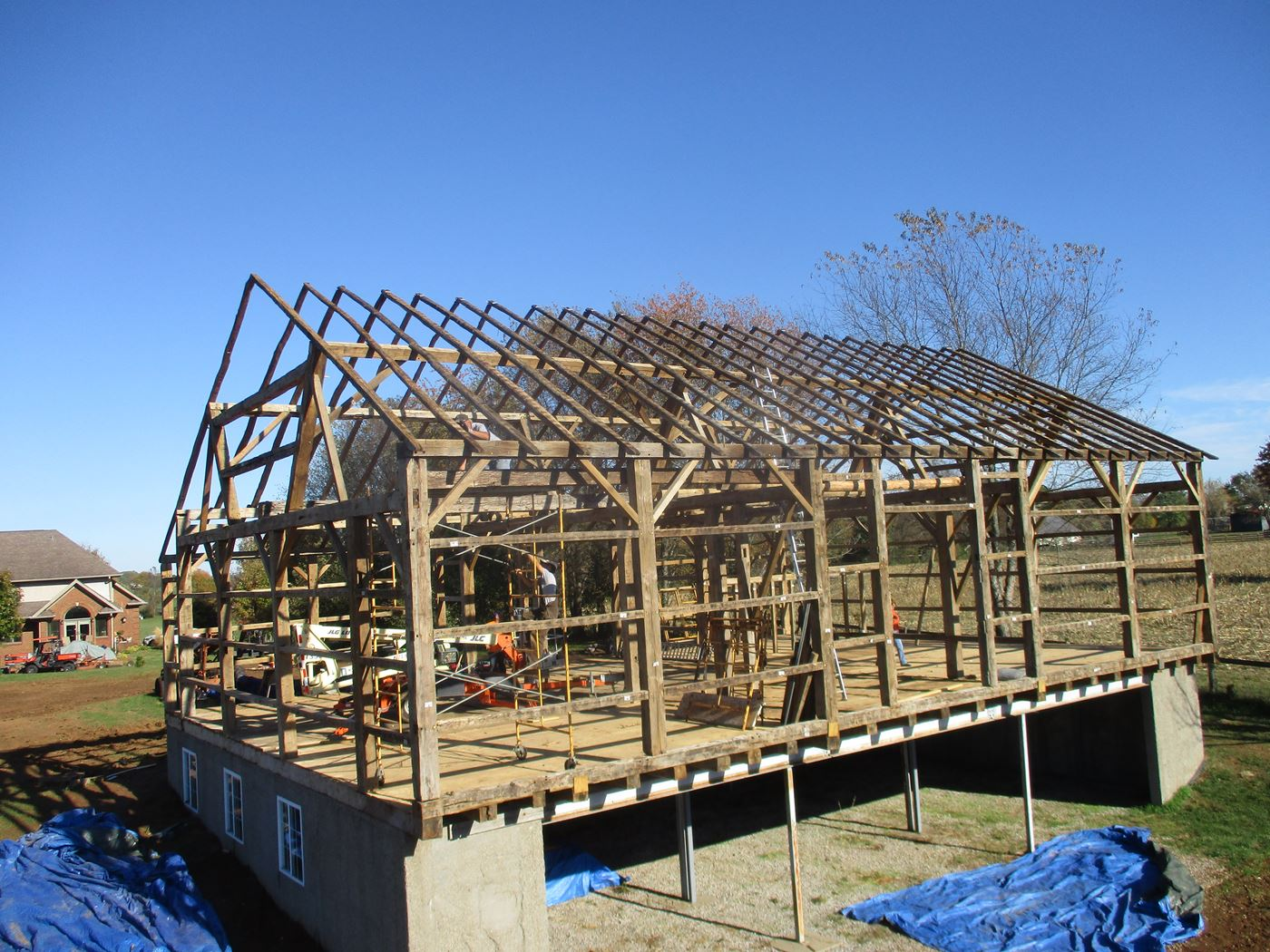 Bluffton Allen Historic Barn Frame 32