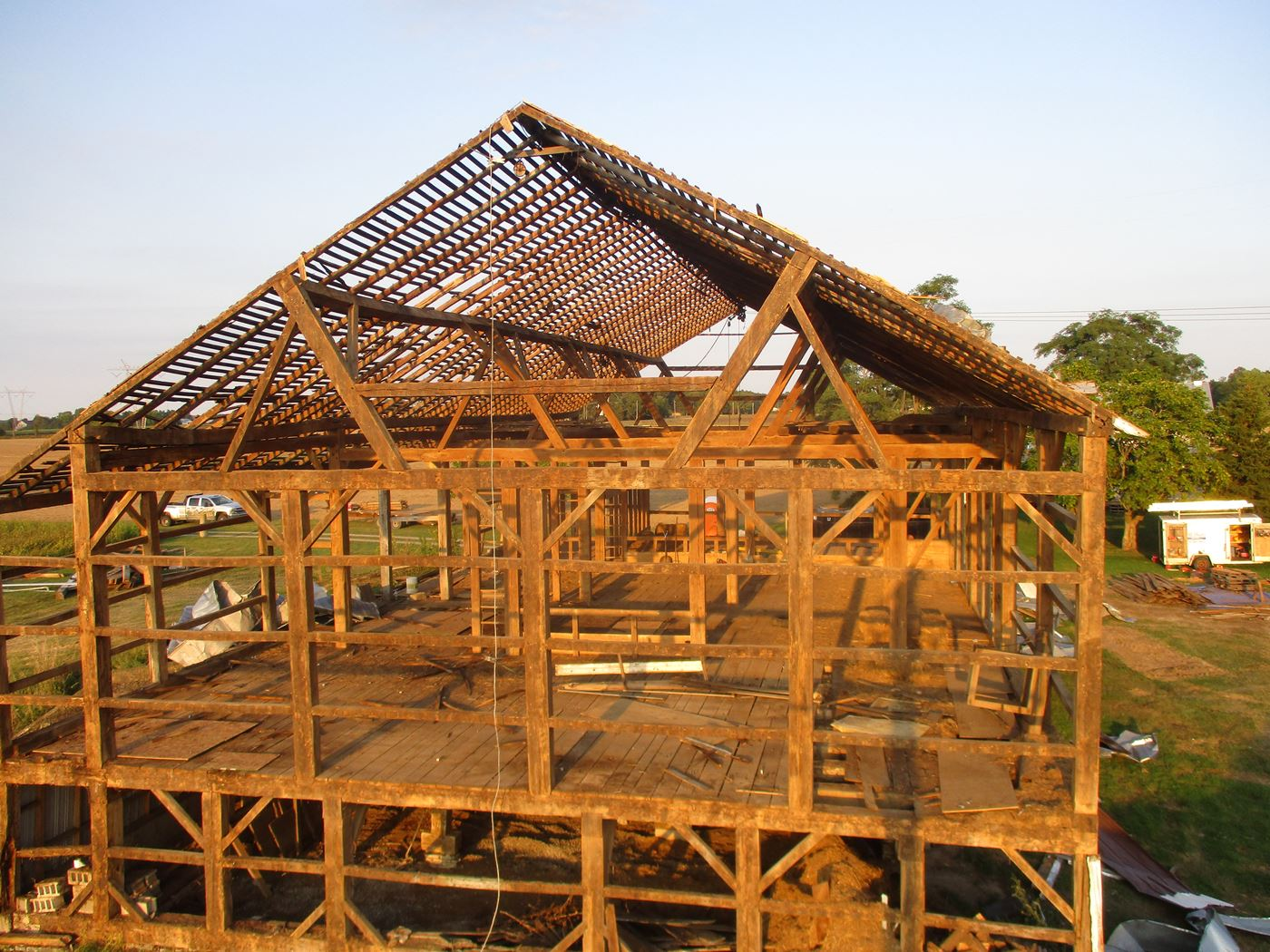 Bluffton Allen Historic Barn Frame 34