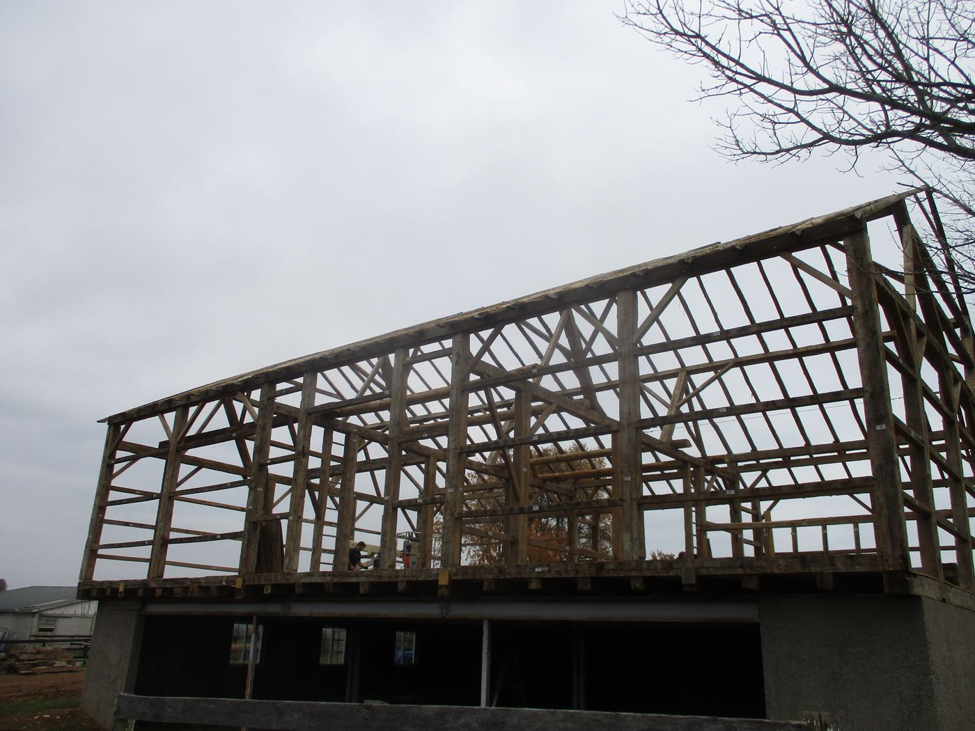 Bluffton Allen Historic Barn Frame 37