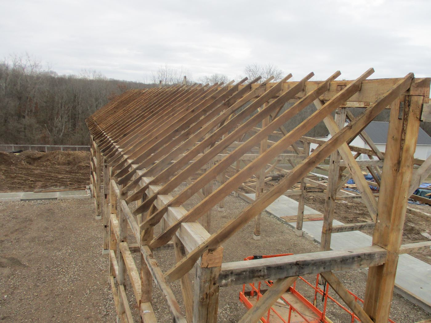 Coonpath Barn Frame Reassembled Ohio Valley Barn Salvage 10