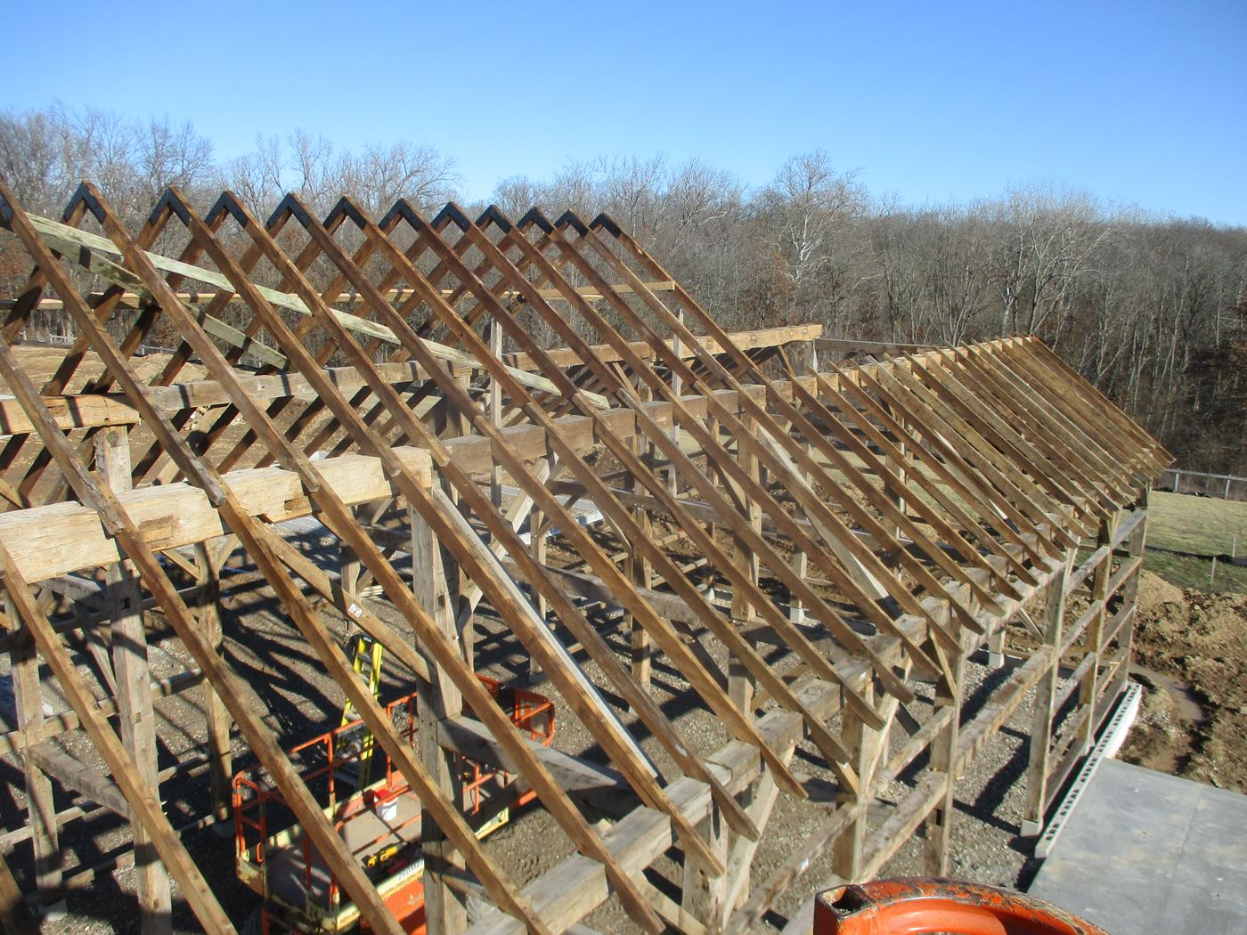 Coonpath Barn Frame Reassembled Ohio Valley Barn Salvage 14