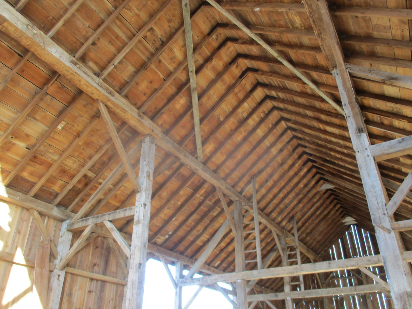 Coonpath Barn Frame Reassembled Ohio Valley Barn Salvage 17
