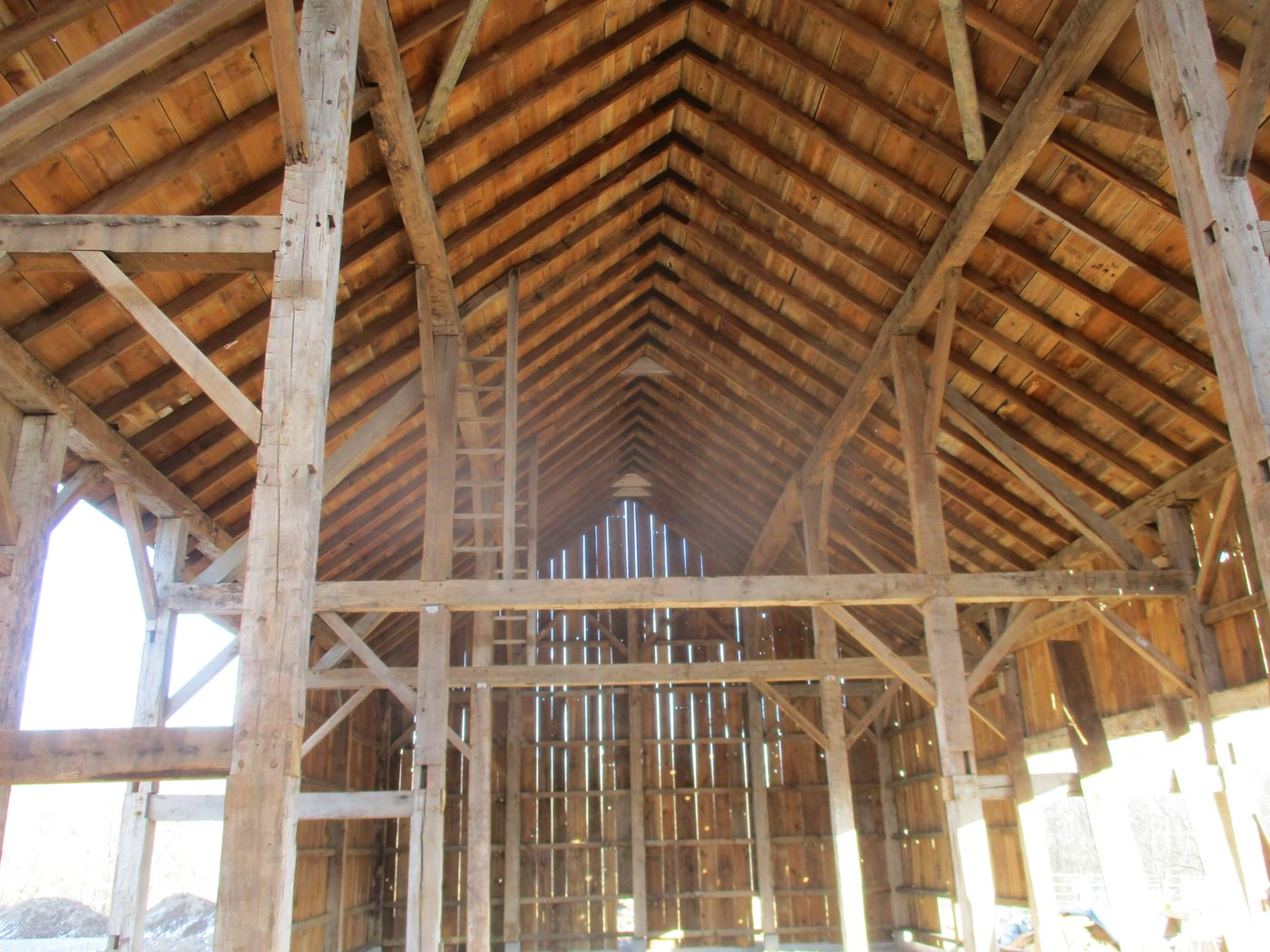 Coonpath Barn Frame Reassembled Ohio Valley Barn Salvage 18