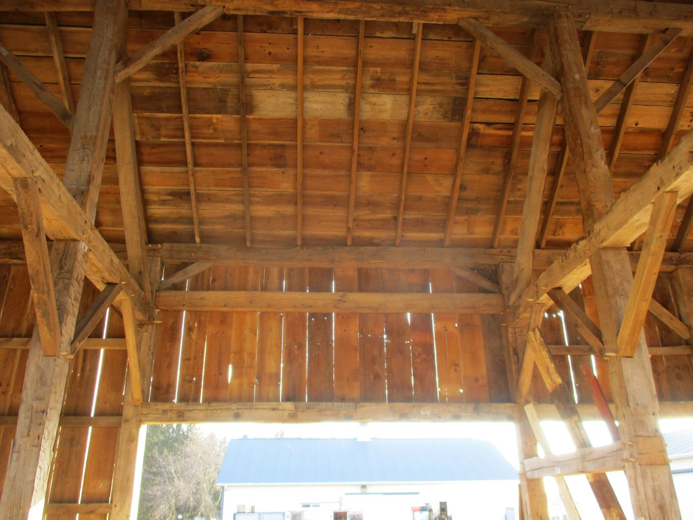 Coonpath Barn Frame Reassembled Ohio Valley Barn Salvage 19