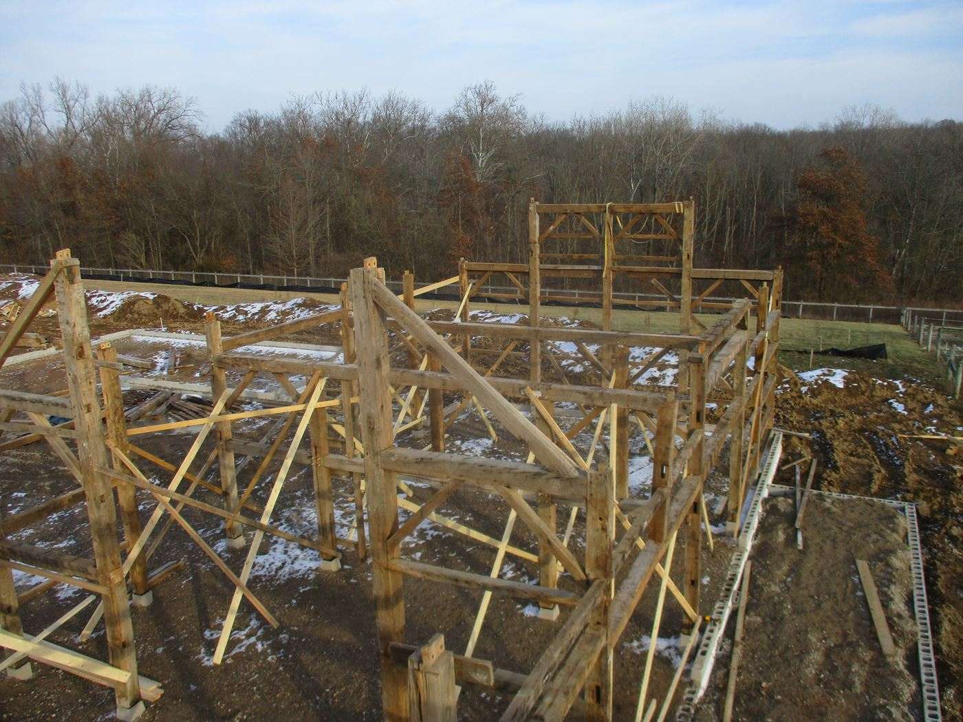 Coonpath Barn Frame Reassembled Ohio Valley Barn Salvage 5