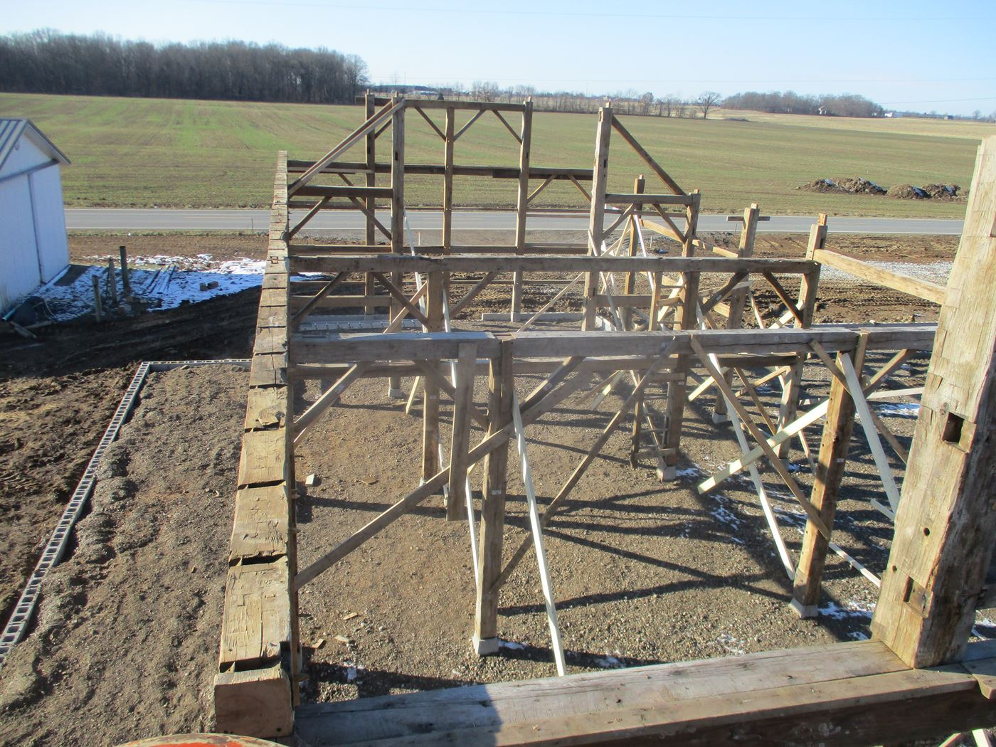Coonpath Barn Frame Reassembled Ohio Valley Barn Salvage 6