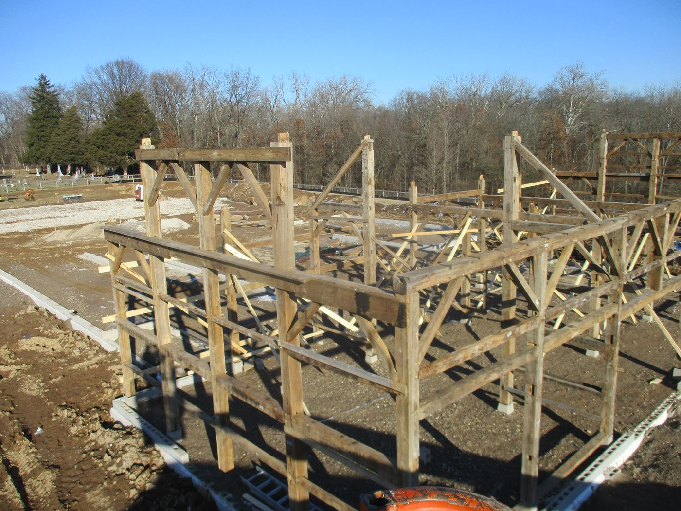 Coonpath Barn Frame Reassembled Ohio Valley Barn Salvage 8