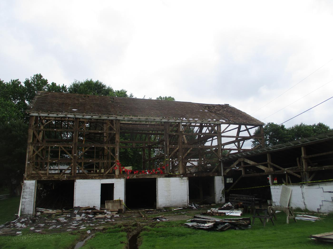 Gerhart Barn Frame Ohio Valley Barn Salvage Reclamation Restoration 4