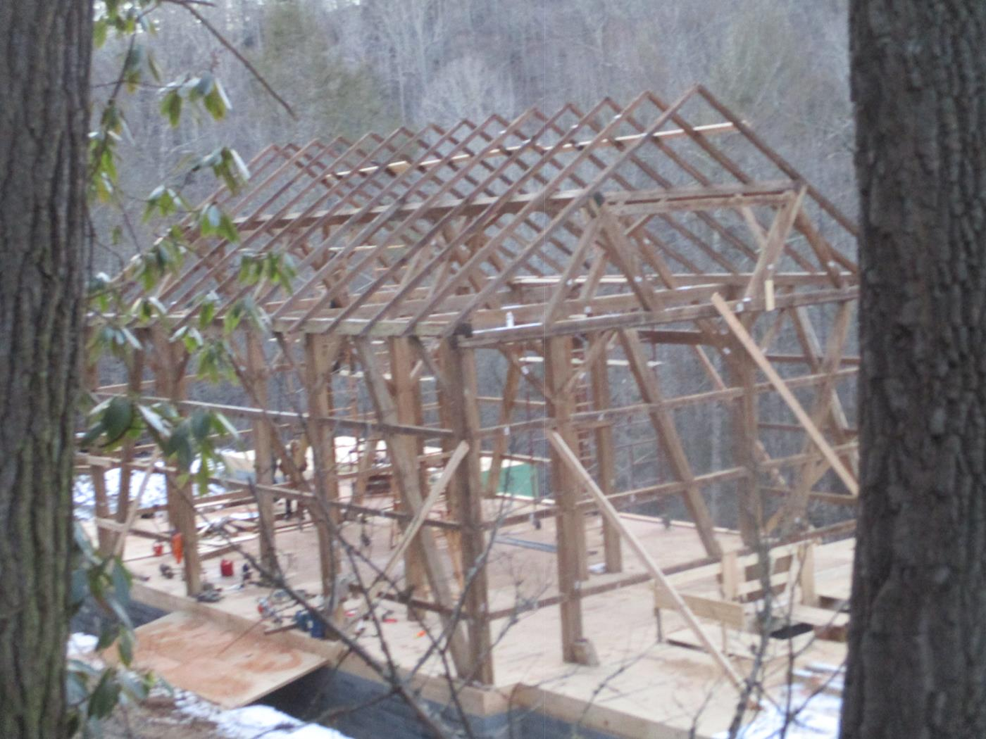 North Carolina Barn Raising Ohio Valley Barn Salvage 11