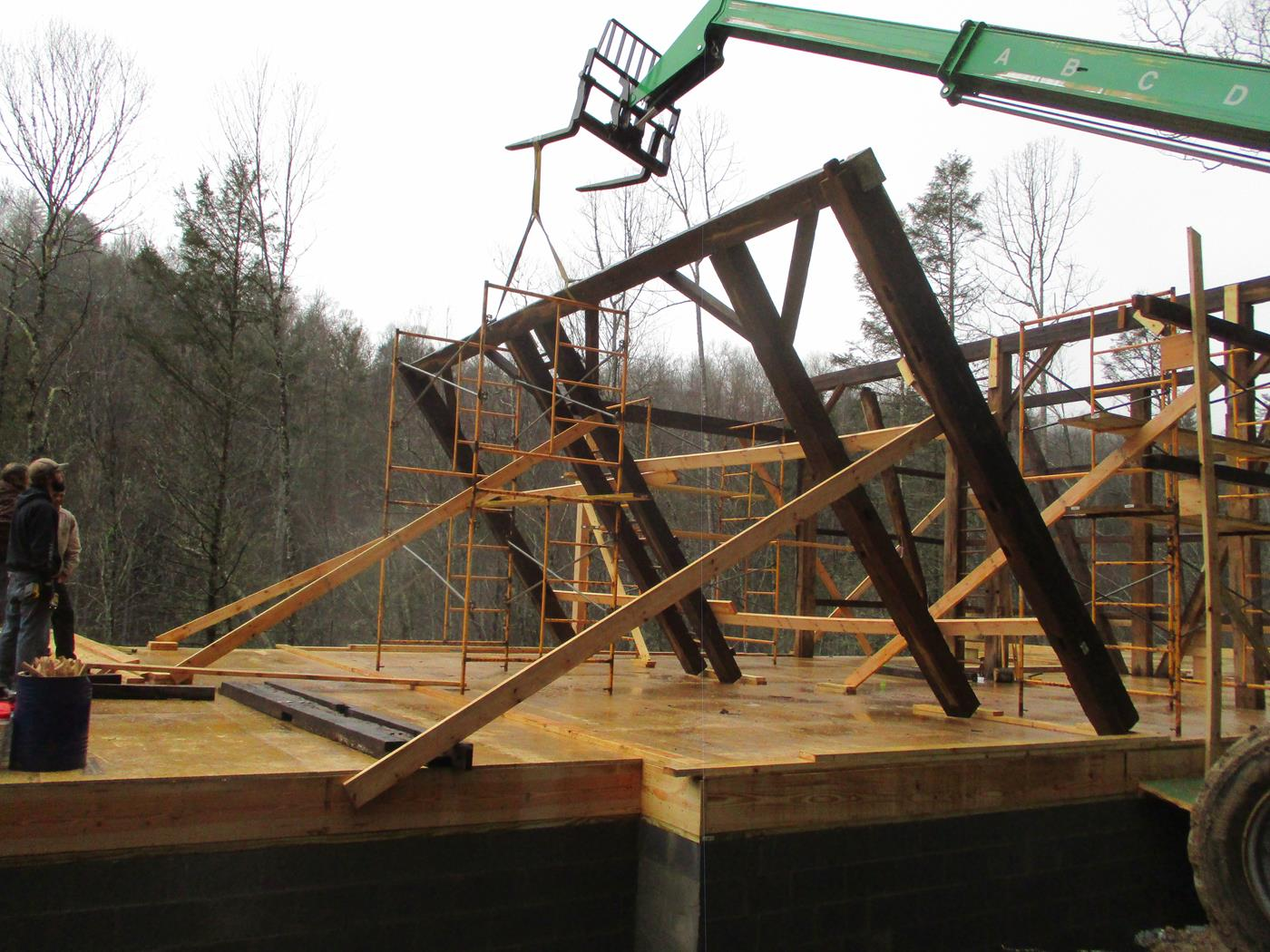 North Carolina Barn Raising Ohio Valley Barn Salvage 6