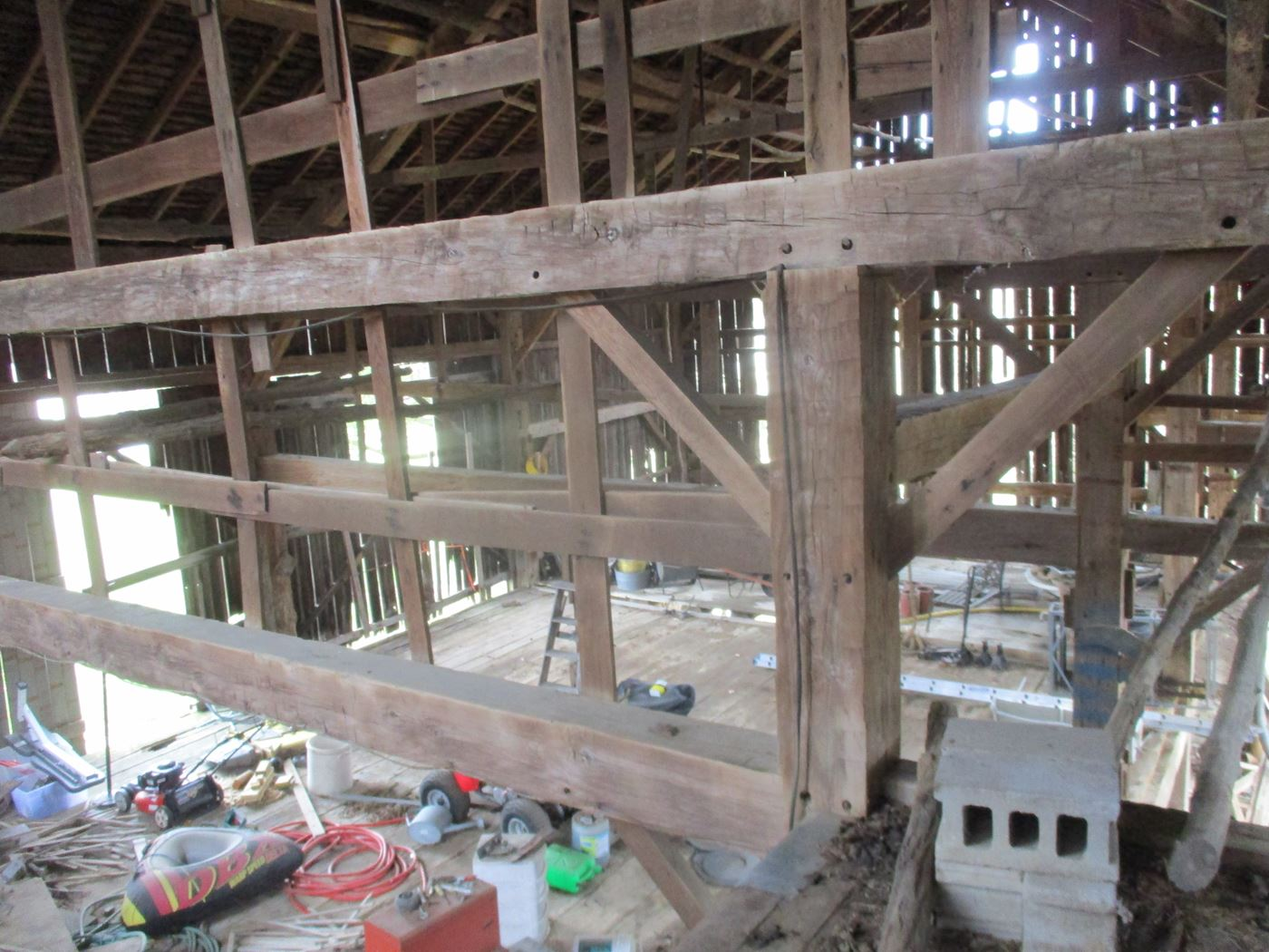 Ohio Valley Barn Salvage Green Barn Frame 13