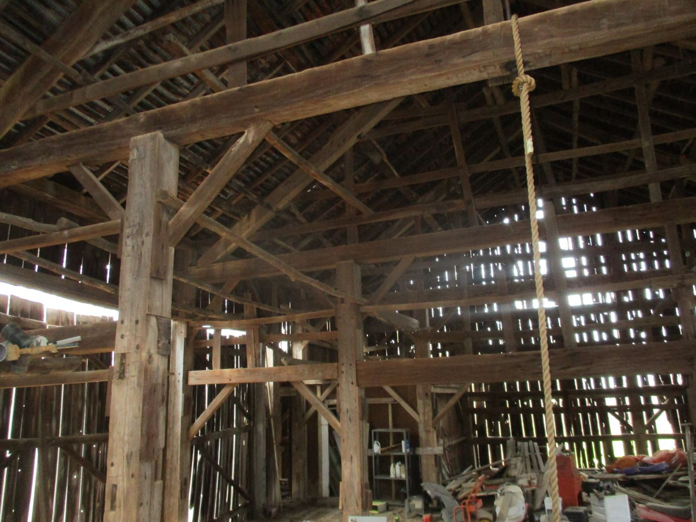 Ohio Valley Barn Salvage Green Barn Frame 5