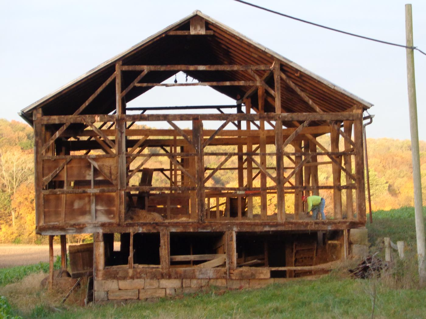 Reeder Barn Frame Construction Structure Restoration 5