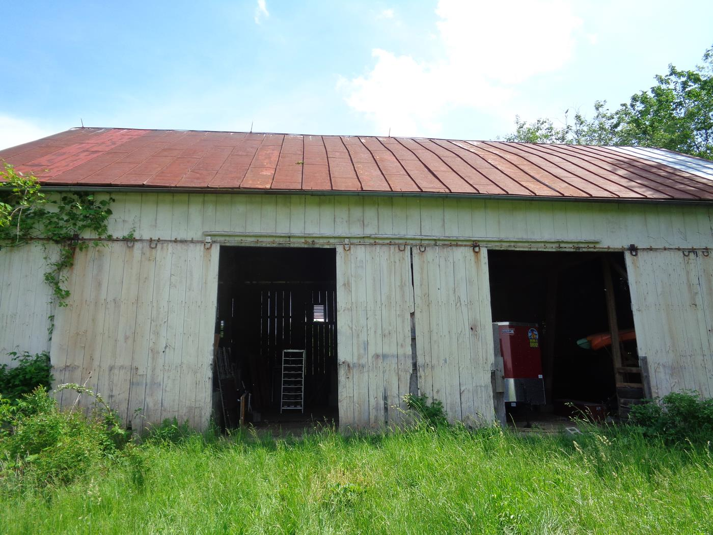 Tugend Road Barn Frame Salvage Site Cleanup Restoration 1
